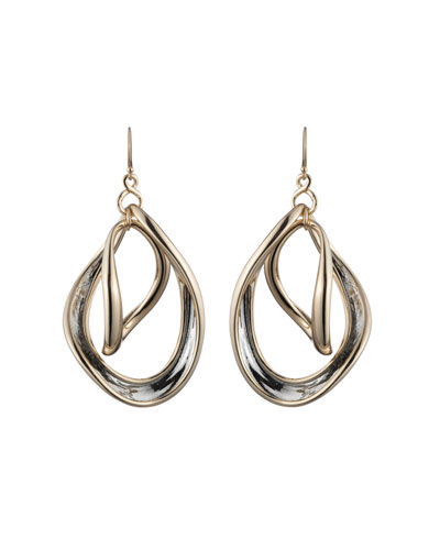 Two-Tone Orbiting Sculptural Earrings