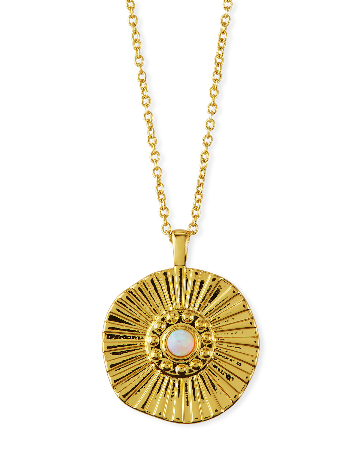 Gorjana Accessories SUNBURST COIN NECKLACE