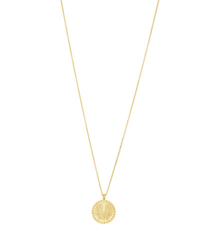 Palm Coin Pendant Necklace