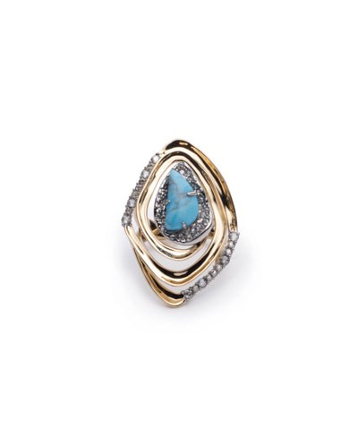 Spiral Cocktail Ring, Size 7