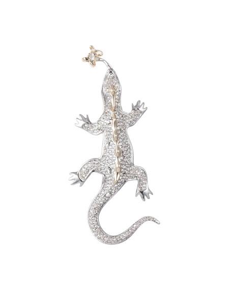 Alexis Bittar Crystal Encrusted Lizard Pin
