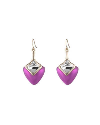 Two-Tone Sculptural Drop Earring