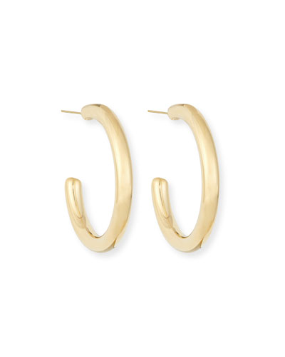 Thick Half Hoop Earrings