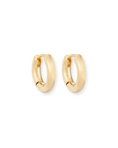 Chunky Huggie Hoop Earrings