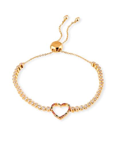 Adjustable Open-Heart Bracelet