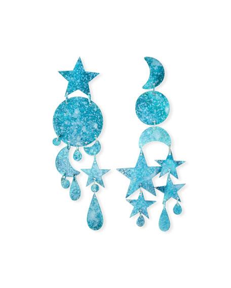 We Dream in Colour Twilight Mismatch Dangle Earrings