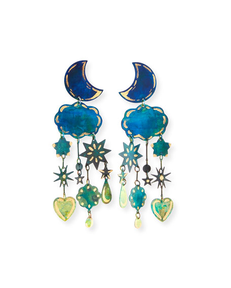 We Dream in Colour Gilded Yasmine Dangle Earrings