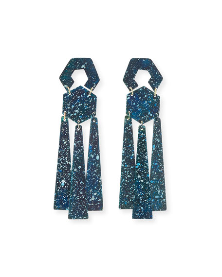 We Dream in Colour Taos Dangle Earrings, Ocean