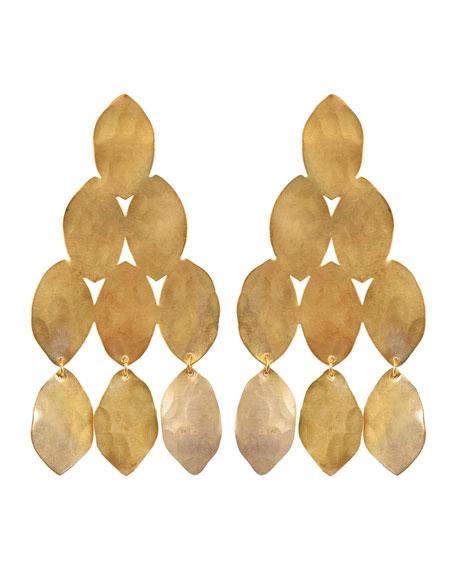 We Dream in Colour Kiketta Hammered Dangle Earrings