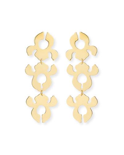 iris Bouquet Shadow Drop Earrings