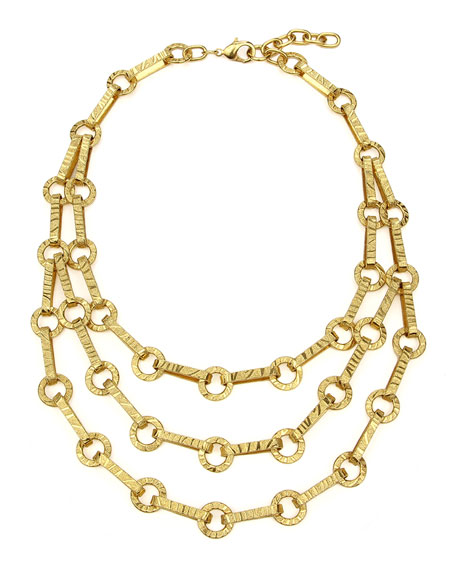 Ben-Amun Textured 3-Row Necklace