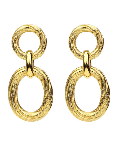 9fc3fd147 Gold Oval Drop Earrings   Neiman Marcus