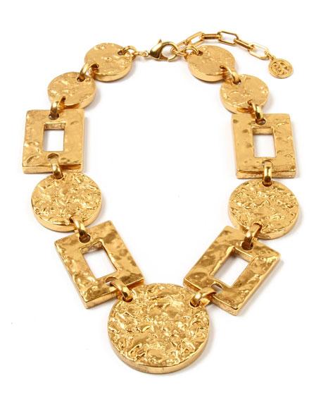 Ben-Amun Textured Statement Link Necklace