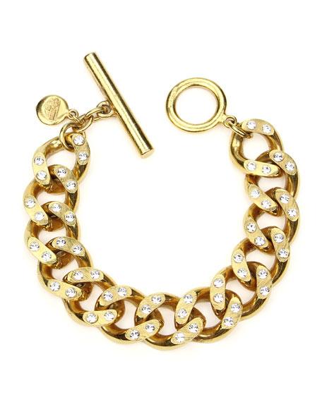 Ben-Amun Crystal Curb-Link Chain Bracelet