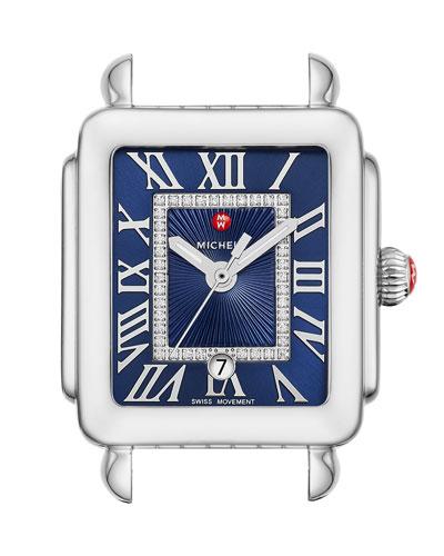 Deco Madison Mid Watch w/ Diamonds, Blue