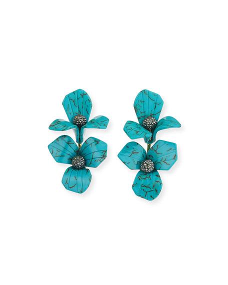 Lele Sadoughi Trillium Bouquet Drop Earrings, Turquoise