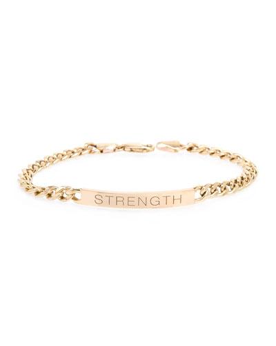 14k Medium Curb-Chain STRENGTH Bracelet