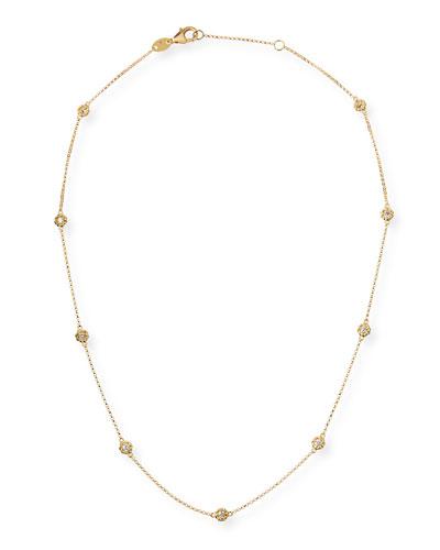 Barocco 18k Diamond-Station Necklace