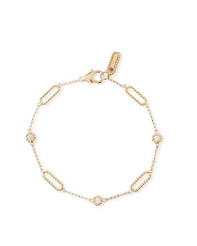 Barocco Braid 18k Diamond Bracelet