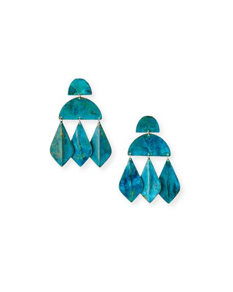 We Dream in Colour Kalaiya Geometric-Drop Earrings