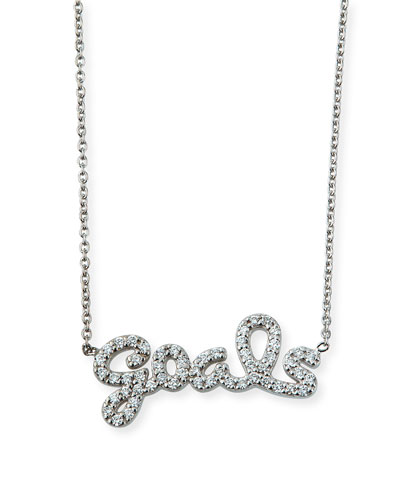 8ce53a5345f8 Quick Look. Roberto Coin · 18k White Gold Diamond Goals Necklace