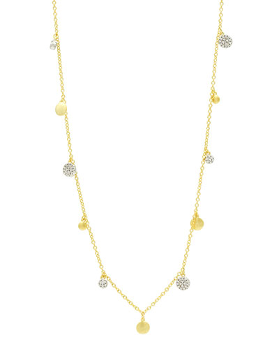 Fleur Bloom Empire Long Charm Necklace, 40