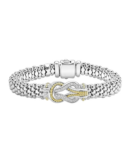 Lagos Newport Diamond 9mm Rope Bracelet