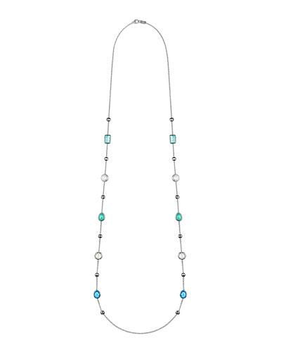 925 Rock Candy® Medium-Station Necklace in Waterfall, 42