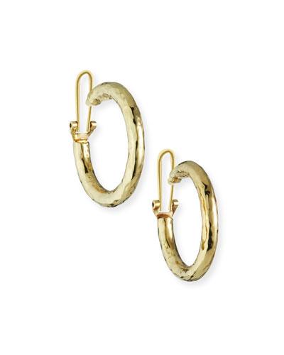 Glamazon 18k Clip-On Hoop Earrings