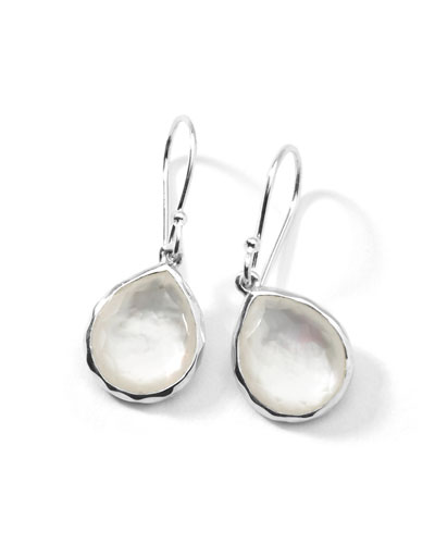 Tiny Teardrop Earrings, Mother-of-Pearl