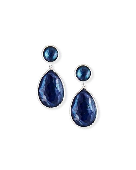 Ippolita Two-Teardrop Earrings in Royal Triplet
