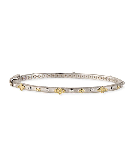 Jude Frances Mixed Metal Alternating Quad Bangle