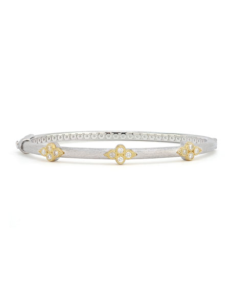 Jude Frances Mixed Metal Triple Moroccan Trio Bangle w/ Diamonds
