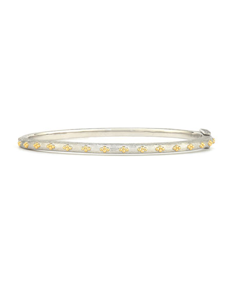 Jude Frances Mixed Metal Thin Beaded Quad Bangle