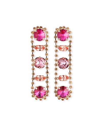 Julie Linear Drop Earrings, Rose