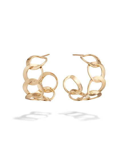 Lana 14k Wide Bond-Link Hoop Earrings