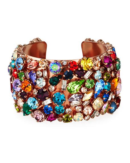 Rebekah Price Felicia Mixed-Crystal Cuff Bracelet