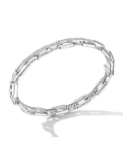 Stax 7mm Diamond Small-Link Bracelet, Size S-L