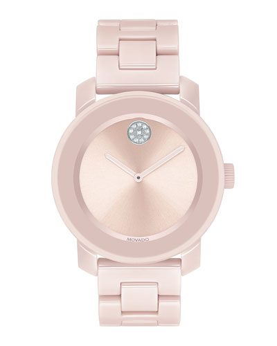 36mm BOLD Ceramic Bracelet Watch, Pink