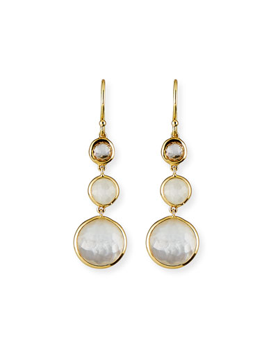 18k Lollipop® Three-Stone Drop Earrings