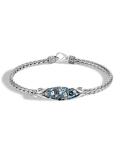 Classic Chain Blue Topaz Bracelet