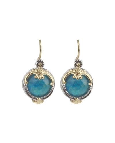 Iliada Chrysocolla Drop Earrings