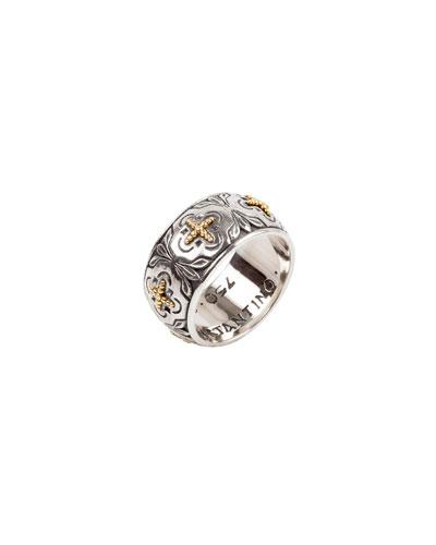 Cross Milgrain Band Ring