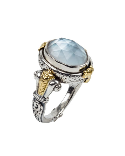 Hestia Mother-of-Pearl Doublet Ring