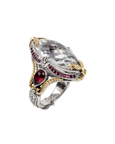 Pythia Crystal Marquise Ring, Size 6 & 8