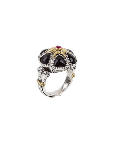 Pythia Floral Crystal & Corundum Ring