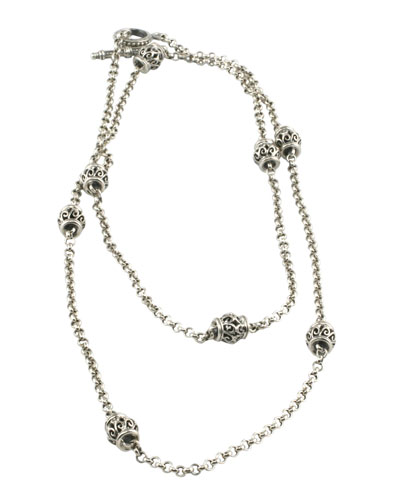 Silver Station Necklace, 36