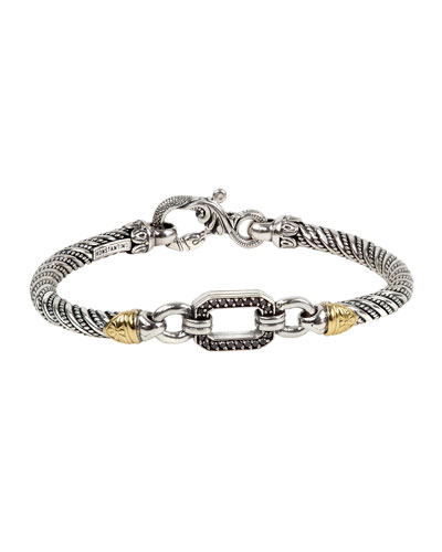 Hermione Black Diamond Open-Link Bracelet