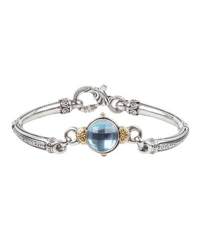 Blue Topaz Bracelet w/ 18k Gold