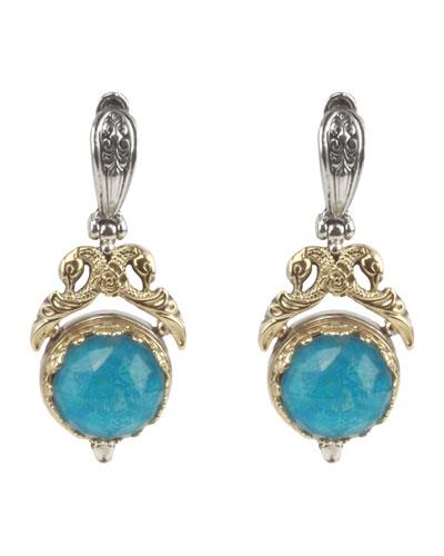Chrysocolla Doublet Earrings